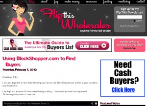 Flip This Wholesaler site