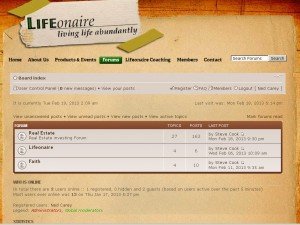 Lifeonaire forum